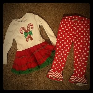 Rare too Christmas Candy cane outfit